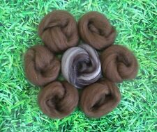 Needle Felting Natural Brown & Blend Ideal for Animal Projects, Felting Wool