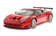FERRARI 458 ITALIA GT2  1/18 SCALE DIECAST CAR RED BY MATTEL/HOT WHEELS BCJ77