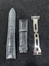 original Breguet Black Alligator Watch Strap & Folding Buckle 19mm Lug Width