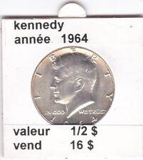 e2 )pieces de 1/2 dollar kennedy 1964
