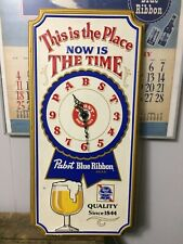 Pabst Blue Ribbon Beer Sign vintage 1979 wall Clock Pbr Milwaukee