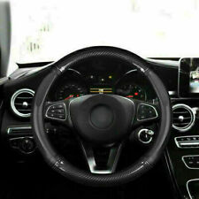 """Fit For 15"""" 38cm Car Carbon Fiber Leather Steering Wheel Cover Non-slip Cover"""