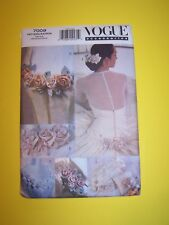 Vogue 7009 sewing pattern misses bridal accessories, one size