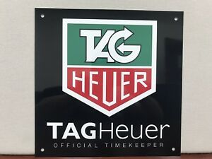 Heuer Racing Tag official timekeeper F1 Advertising Garage Sign
