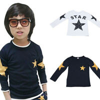 Toddler Kids Baby Boy&Girl Cotton Long Sleeve Tee T-shirt Tops Blouses 2-7Y KW