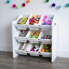 Kids Toy Organizer Storage Toys Bins Box Bin Chest Rack White Children Playroom