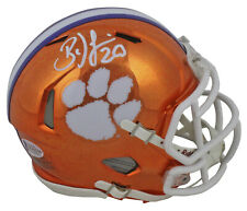 Clemson Brian Dawkins Authentic Signed Chrome Speed Mini Helmet BAS Witnessed