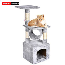 """36"""" Cat Tree and Tower Level Condo Furniture Play House With Scratching Post"""