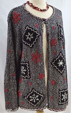 Erica woman CHRISTMAS UGLY SWEATER cardigan HOLIDAY CHEER Ugly Tacky top SZ 1X