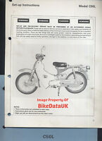 Honda C50L Cub (1980 >>) Genuine Factory PDI Set-Up Manual Cub C 50 L Moped CE88