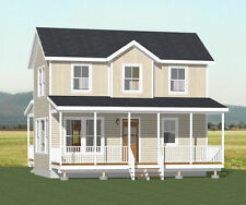 28x16 House -- 2 Bedroom 1.5 Bath -- 821 sqft  -- PDF FloorPlan -- Model 1C