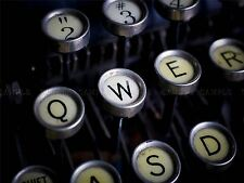 PHOTOGRAPHY COMPOSITION ANTIQUE TYPEWRITER KEYBOARD QWERTY PRINT POSTER MP3347A