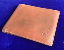 Vintage Samsonite Tan Brown Leather Bifold ID Credit Card Holder Wallet A38