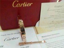 Cartier 18K ROSE GOLD LOVE BRACELET SIZE 17 FANTASTIC CONDITION 100% AUTHENTIC!!