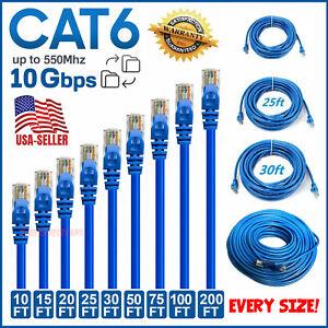 CAT 6 Ethernet Cable Lan Network CAT6 Internet Modem Blue RJ45 Patch Cord LOT
