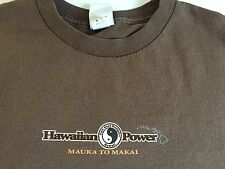T&C SURF DESIGNS HAWAII 100% COTTON SHORT SLEEVE SIZE M GRAPHIC BROWN TEE