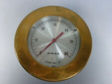 George Instrument 0 60 Psi Brass Pressure Gauge Retro Vintage Steampunk