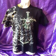 T Shirt Pentagram, Skull, Dragon And Sword Small