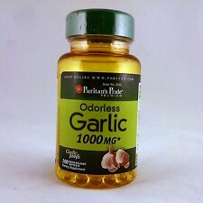 Puritan's Pride Odorless Garlic 1000 mg 100 softgels dietary supplement herb