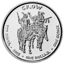 2015 Native American Silver Dollar Crow Timber Wolf 1 oz Silver Proof SKU50904