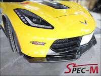 2014+ Corvette C7 Z06 Stingray R1 Extend Carbon Fiber Front Bumper Lip CF