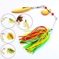 4pcs/Lot Hard Lure Spinner Bait For Bass Fishing Freshwater 17.4g New