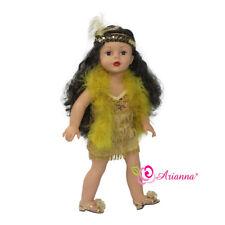 Arianna 4pcs FLAPPER Dress Headress Boa Shoes Costume For 18 inch American Girl