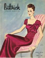 1930s Butterick Winter 1938 Fashion Magazine Pattern Book Catalog E-Book on CD