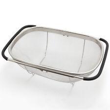 SP Sieb D | Edelstahl Küchensieb Spülensieb Abtropfsieb ausziehbar 55 cm Seiher