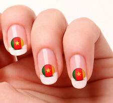 20 Nail Art Decals Transfers Stickers #313 - World Cup Cameroon flag icon