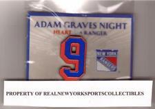 ADAM GRAVES NEW YORK RANGERS RETIREMENT NIGHT PIN 2/3/09 AMEX #9