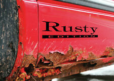 ( Rusty Edition ) Vinyl DECAL Car window sticker graphics Funny rust repair kit