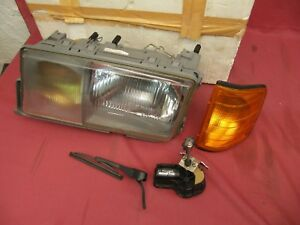 NOS Mercedes-Benz W201 Euro 190E Hella Left Headlight Assembly & Wiper