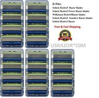 20 Schick Hydro 5 Sensitive Razor Blades fit Power Shaver Cartridges Refills 4 8