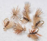 12 Flies -Elk Hair Caddis Gray Dry Fly - Mustad Signature Fly Fishing Hooks