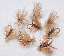 12 Flies -Elk Hair Caddis Gray Body Dry Fly - Mustad Signature Fly Fishing Hooks