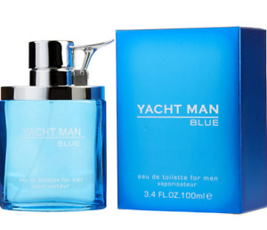 Yacht Man Blue By Myrurgia Cologne EDT Spray 3.4 oz - New In Box