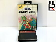 GHOULS 'N GHOSTS Sega Master System PAL Game & Box. genuine & tested! GREAT!