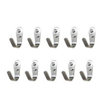 10Pcs Towel Coat Heavy Duty Stainless Steel Door Wall Mount J Hook Hanger Holder