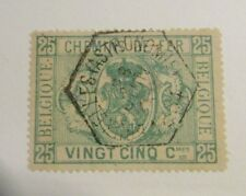 Belgium Scott #Q3 Θ cds coat of arms, cancel stamp f/vf + 102 card, superfleas