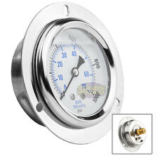 "2.5"" Liquid Filled Pressure Gauge 0-1,000 PSI 1/4"" NPT CBM Panel Flush Mount"