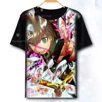 Hot Anime Danganronpa Unisex Casual Pullover Black T-shirt Short Sleeve Tee Tops