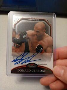 DONALD CERRONE 2011 TOPPS FINEST UFC AUTOGRAPH AUTO ROOKIE