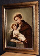 Gemälde Bild Leinwand ÖL sakral Kunst Heilige Antonius Renauer 1898 *6233