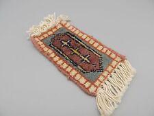 Vintage Doll House Woven Rug Carpet Runner Fringe