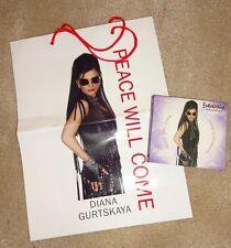 Eurovision 2008 Georgia Diana Gurtskaya Peace Will Come promo CD DVD