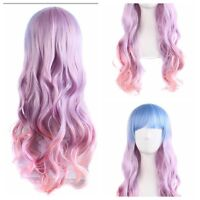 60cm Fashion Full Wig Long Wavy Curly Wig Cosplay Party Costume Anime Hair Color