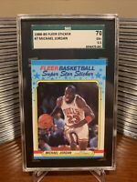 1988 Fleer #7 Michael Jordan Super Star Sticker SGC 5.5