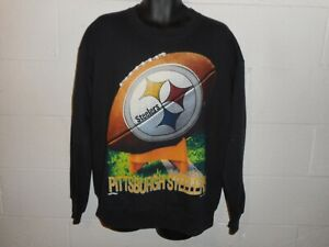 Vintage 90s Nutmeg Pittsburgh Steelers Big Logo Sweatshirt Large