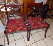 Pair of Mahogany Sidechairs / Dinette Chairs by Bombay